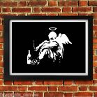 BANKSY FALLEN ANGEL POSTER FRAMED WALL ART PRINT PICTURE SMALL MEDIUM LARGE