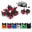 10pcs M6 Red Bolts Screws Fastener Clips Kit for Motorcycle Windscreen Fairing