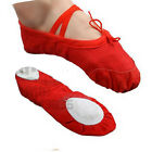 Womens Ballet Dance Shoes Fitness Gymnastics Shoes Canvas Toddler / Adult 26-38
