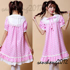 lovelive Lolita dress pink Cosplay embroidery lace high-grade maid costume S-3XL