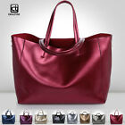 Cow Genuine Leather Women Tote Bag Shoulder Handbag Lady Shopping Tote Purse