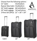 Clearance Aerolite / Wg Lightweight 2 Wheel Hand Cabin Large Suitcase Luggage