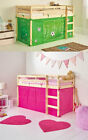 Boys Football or Girls Pretty Pink Tent for Shorty Midsleeper Bed Bedroom Green