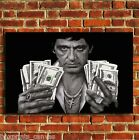SCARFACE MONTANA MOVIE FILM CANVAS PRINT WALL POP ART PICTURE SMALL MEDIUM LARGE