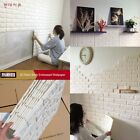 3D Foam Stone Brick Self-adhesive Wallpaper Wall Sticker Panels Decal 1-100Pcs
