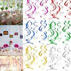 Foil Swirl Hanging Decorations Baby Shower Birthday Wedding Party Supply Favor