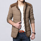 3 Color KHN158 Fashion Mens Zip Winter Warm Padded Jacket Thicken Collar Coats