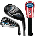 Callaway XR OS Hybrid Iron Combo Set 3+4 Hybrids 5-PW Graphite/Steel Choose Flex
