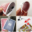 100% PLASTIC New Poker Size Good Playing Cards Excellent Large Numbers Red/Blue