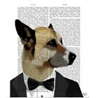 Poster Print Wall Art entitled Debonair James Bond Dog $25.99 USD on eBay