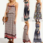Fashion Womens Boho Sleeveless Evening Cocktail Party Beach Long Maxi Dress