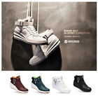 New Paperplanes PP1334 Womens Fashion Lace Up Hi Top Wedge Sneaker Trainer Boots