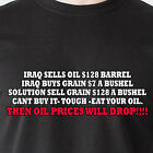 it- tough -eat your oil. Then oil prices will drop iraq usa retro Funny T-Shirt