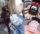 US priority Women Bow Minnie Faux Leather Convertible Mini Backpack Shoulder Bag