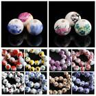Wholesale Round Ceramic Porcelain Flowers Loose Spacer Beads DIY Finding