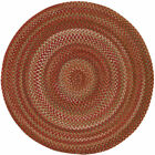 Capel Rugs Manchester Wool Country Braided Round Rug Rosewood #500