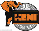 "MOPAR ""50 Years of HEMI"" Removable Wall Decal Graphic Man Cave Decor Garage"