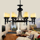 Pendant New Rustic Cylindrical Marble Shaded Up Lighting Chandelier Ceiling Lamp