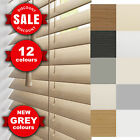 FAUX WOOD VENETIAN BLINDS - MADE TO MEASURE WOODEN BLINDS - NEW GREY BLINDS
