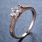 White Sapphire Band 7*7mm10Kt Rose Gold Filled Women's Wedding Ring Size 6-10