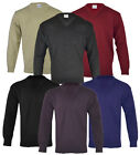 Mens Classic Plain V Neck Jumper Pull Over Work Casual