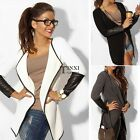 2016 Women Jacket Blazer Long Sleeve Knitwear Leather Cardigan Coat Outwear TXSU