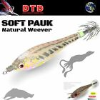 """DTD HI QUALITY SQUID JIG """"PAUK"""" NATURAL WEEVER  2.5"""