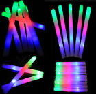 """19"""" Multicolor Light Up Foam Sticks LED Wands Cheer Party DJ  Flash Glow Tubes"""
