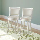 CorLiving Woodgrove Barstool with Solid Backrest - Set of 2