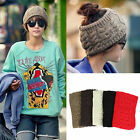 Women Ear Warmer Flower Crochet Hats Knitted Headwrap Headband Hair Band Winter