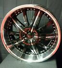 """22"""" NEW Starr 139 22x9.5 black 5x115 et15  CHARGER,CHALLANGER,300 & MORE"""