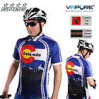 SPEG Colorado Mens Short Sleeve Cycling Jersey Full Zipper 100% Vapore