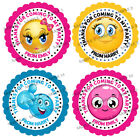 Personalised Emoji Stickers for Party Bags/Sweet Cones etc Ref 01-01