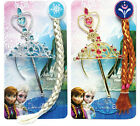 Frozen Elsa Anna Tiara Princess Crown Hair Piece Wand Set Christmas Cosplay