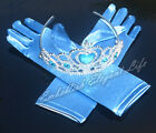 Frozen Elsa Anna Tiara Crown  Gloves  Costume Dress Cosplay Christmas
