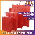 Strong Red Twisted Handle Paper Bags! | Xmas/Shop/Gift/Fashion/Party/Carrier