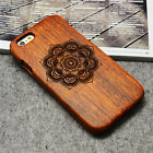 Carving Solid wood Case Natural Handcrafted Wood Phone Cover Case for iPhone 6