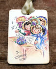Hang Tags GIRLS SINGING HAPPY BIRTHDAY TO YOU TAGS or MAGNET #114  Gift Tags