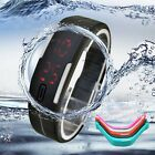 Candy Colors Ultra Thin Men Girl Silicone Digital LED Sports Wrist Watch US35
