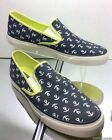 NEW SPERRY TOP-SIDER Mariner Navy/Limeade Anchor Canvas Casual Shoes (Woman)