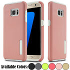 Hybrid Soft Rubber High Impact Armor Shockproof Case Cover For Samsung Galaxy S7