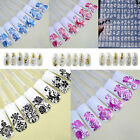 New 108PC 3D DIY Flower Design Nail Art Stickers Manicure Tips Decoration Decals