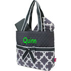 Personalized Geometric Moroccan Quatrofoil Quilted 3Pcs Set Diaper Bag MONOGRAM
