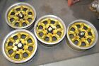 "FOUR  14"" VINTAGE AMERICAN RACING GOLD Wheels"