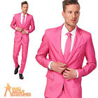 Adult Solid Pink Suitmeister Suit Mens Stag Party Fancy Dress Outfit New