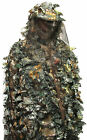 3D Camouflage Ghillie Suit with Veil Hood - LEAF CAMO - Various Sizes