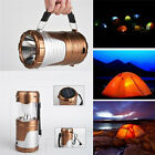 Rechargeable Solar Power Camping Lantern LED Outdoor Tent Lights Lamp Flashlight