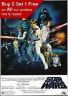 Star Wars Vintage Skywalker Movie Film Poster Print A5 A4 A3 A2 A1 A0 £0.99 GBP