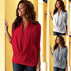 New Women's Loose Long Sleeve Cotton Casual Blouse Shirt Tops Fashion Blouse Top