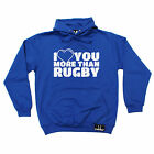 Love You More Than Rugby HOODIE Rugga Wife Girlfriend hoody birthday funny gift